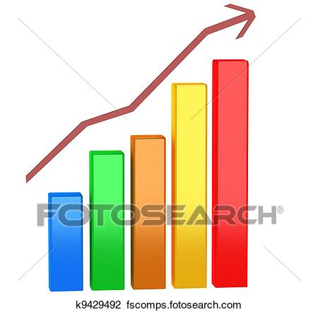 450x441 Clip Art Of Financial Graph K9429492