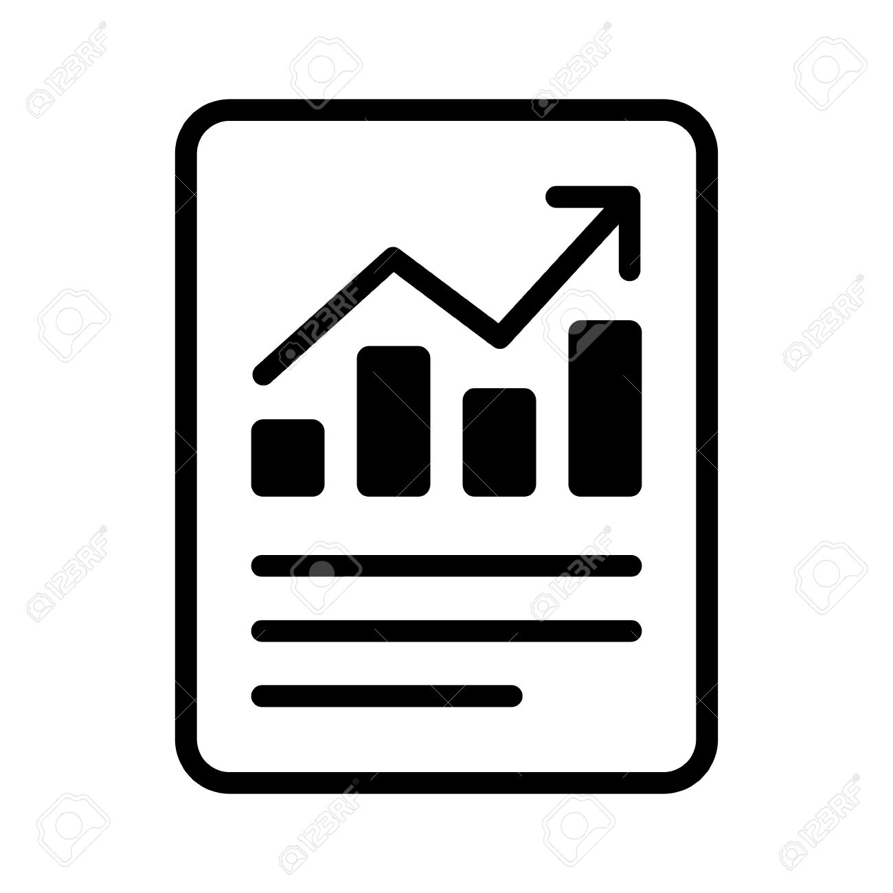 1300x1300 Financial Report Or Income Statement Line Art Icon For Apps