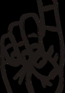 211x300 503 Middle Finger Clipart Free Public Domain Vectors