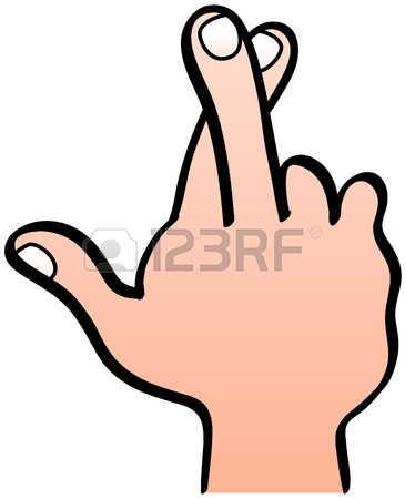 365x450 Finger Clipart Crossed