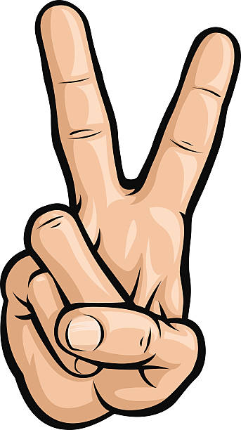 343x612 Finger Clipart Hand Peace Sign