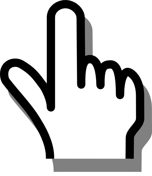 516x597 Pointing Finger Clipart