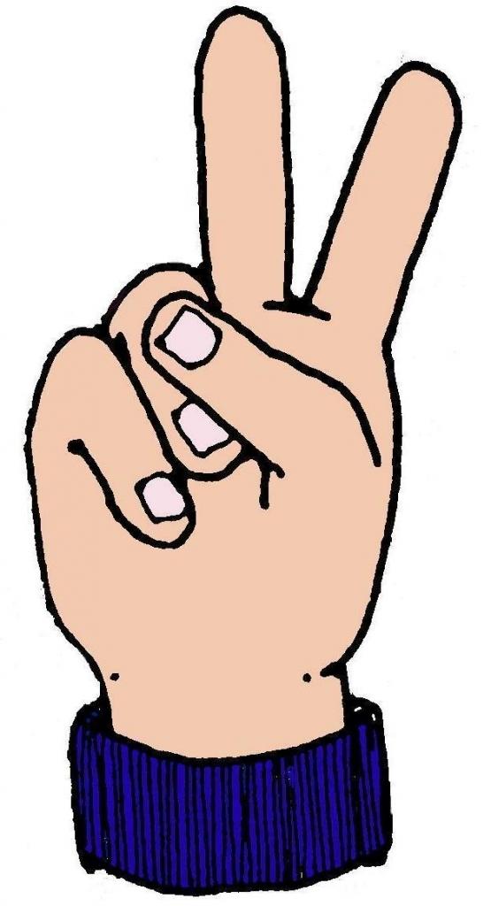 555x1024 Finger Clipart Two Finger