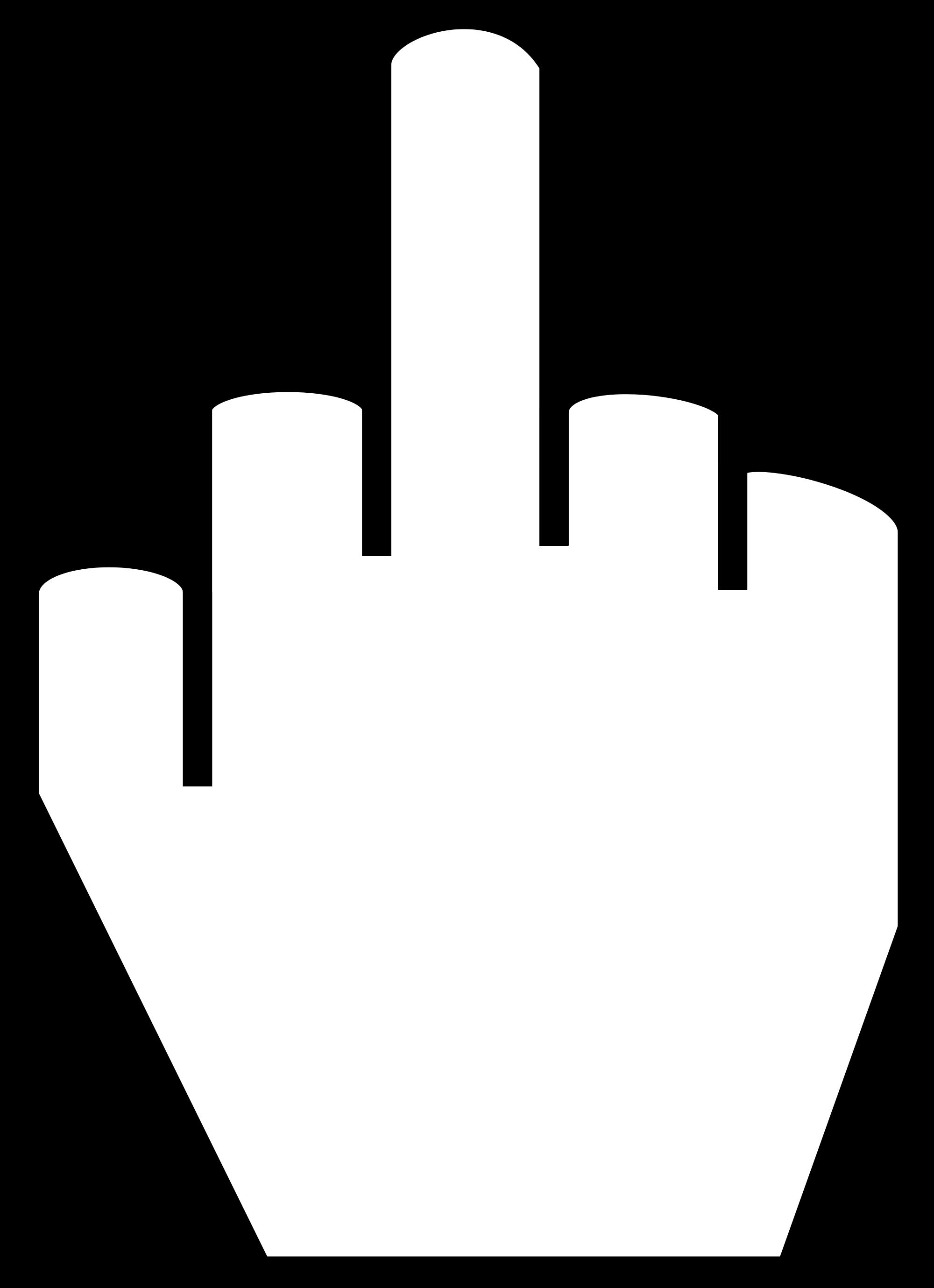 2000x2758 Filethe Middle Finger.svg
