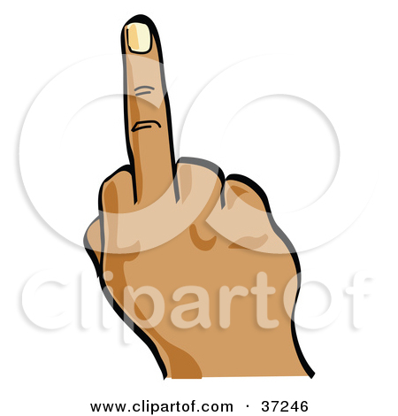 450x470 Flip Off Middle Finger Hand Clipart