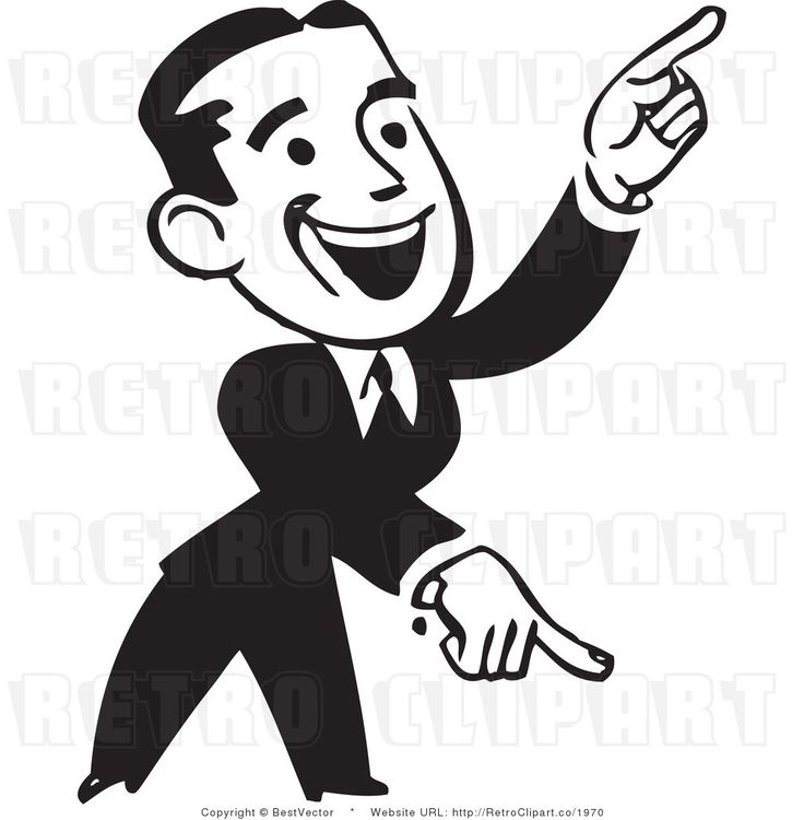 Finger Pointing Clipart
