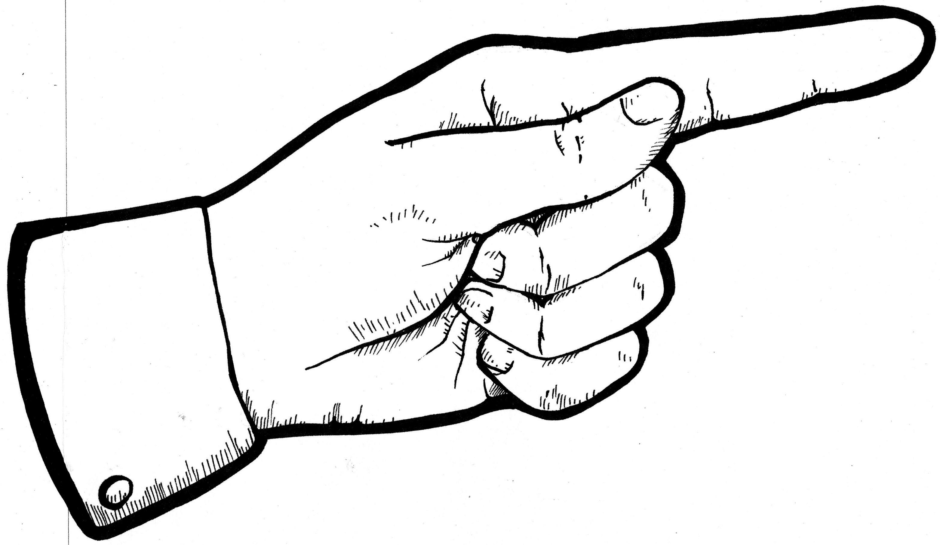 3126x1813 Cartoon Pointing Finger Clipart Kid 2