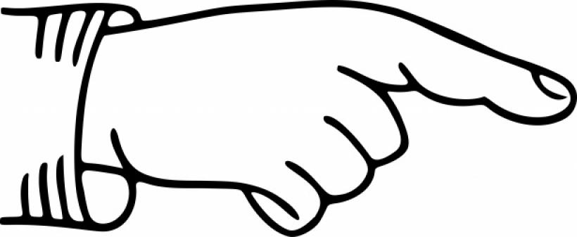 820x337 Pointing Finger Clipart Zeigender Finger Pointing