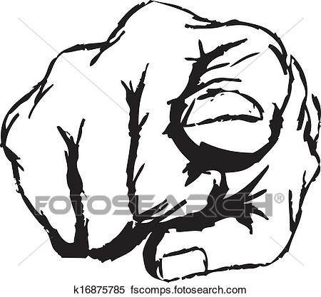450x417 Clipart Of Finger Pointing K16875785