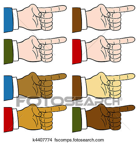 450x470 Drawings Of Finger Pointing Set K4407774