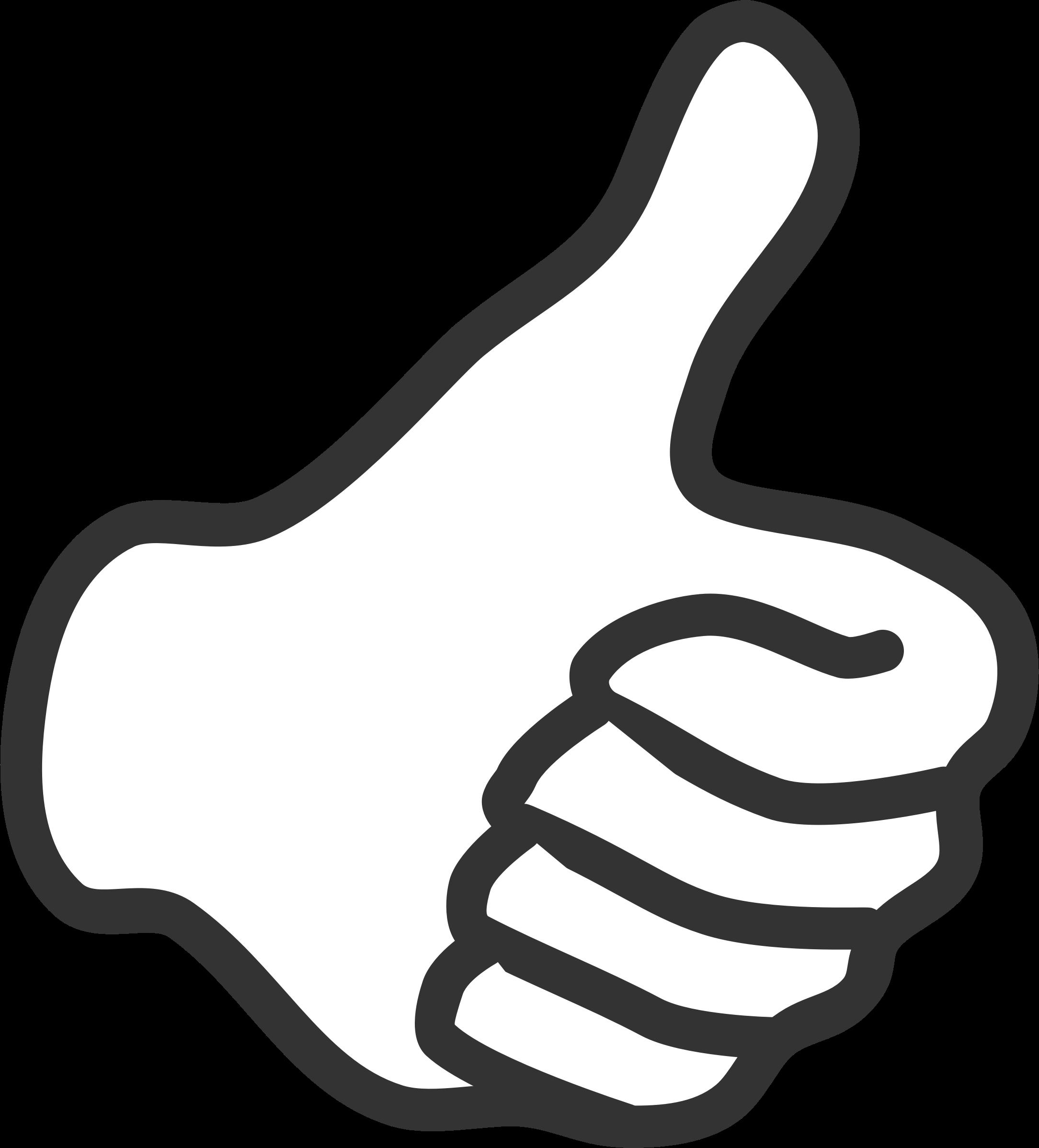 2169x2397 Thumb Clip Art