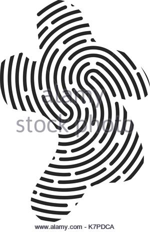 300x463 Vector Touch Id Fingerprint Icon. Touch Id Fingerprint Simple Icon