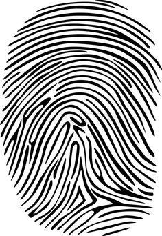 236x342 Clipart Vectoriel Vector Black Isolated Fingerprint On White