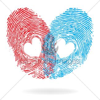 325x325 Fingerprint Hearts, Vector Gl Stock Images