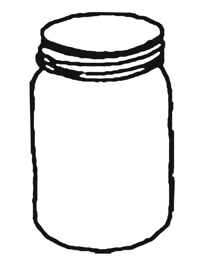 700x906 Mason Jar Coloring Page Capture Marvelous Template Jars Clip Art