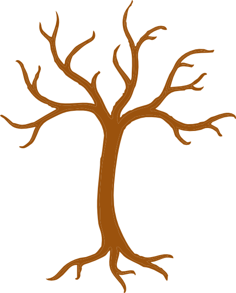 480x595 Brown Tree Without Leaves Clipart