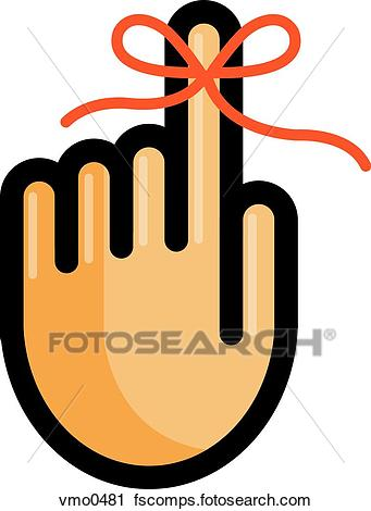 341x470 Clipart Of A Reminder Tied To A Finger Vmo0481