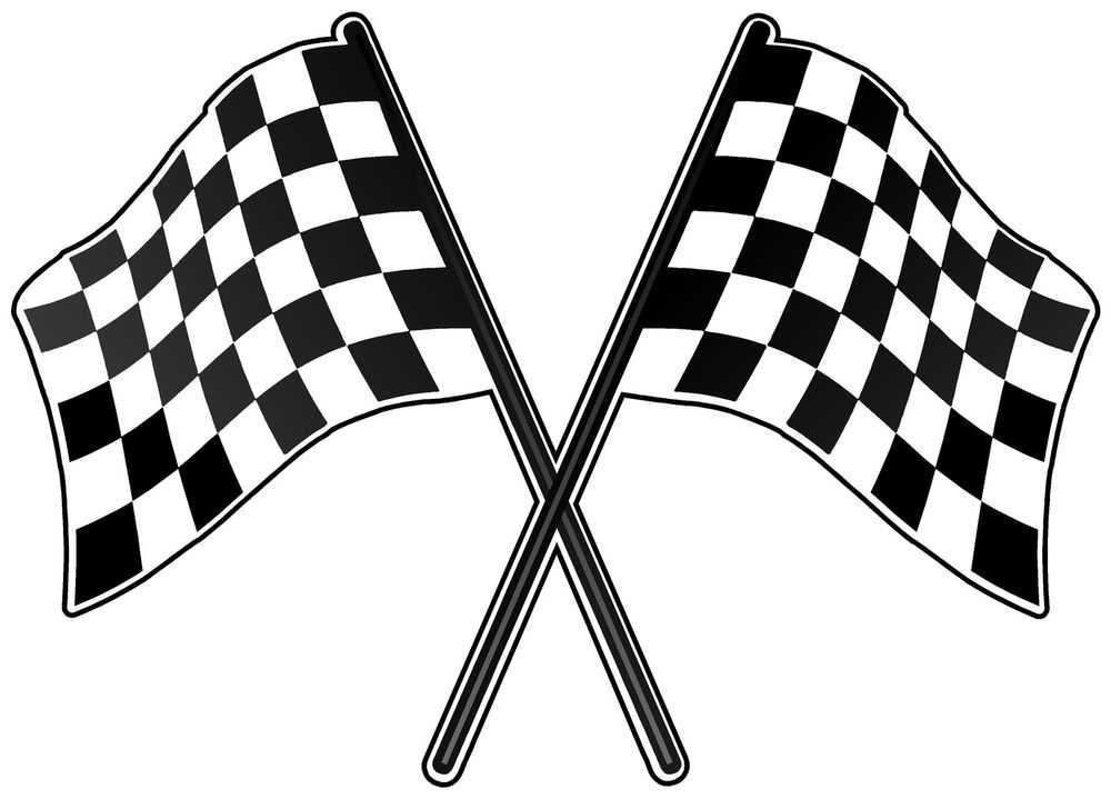 1000x719 Checkered Flag Banner Clip Art