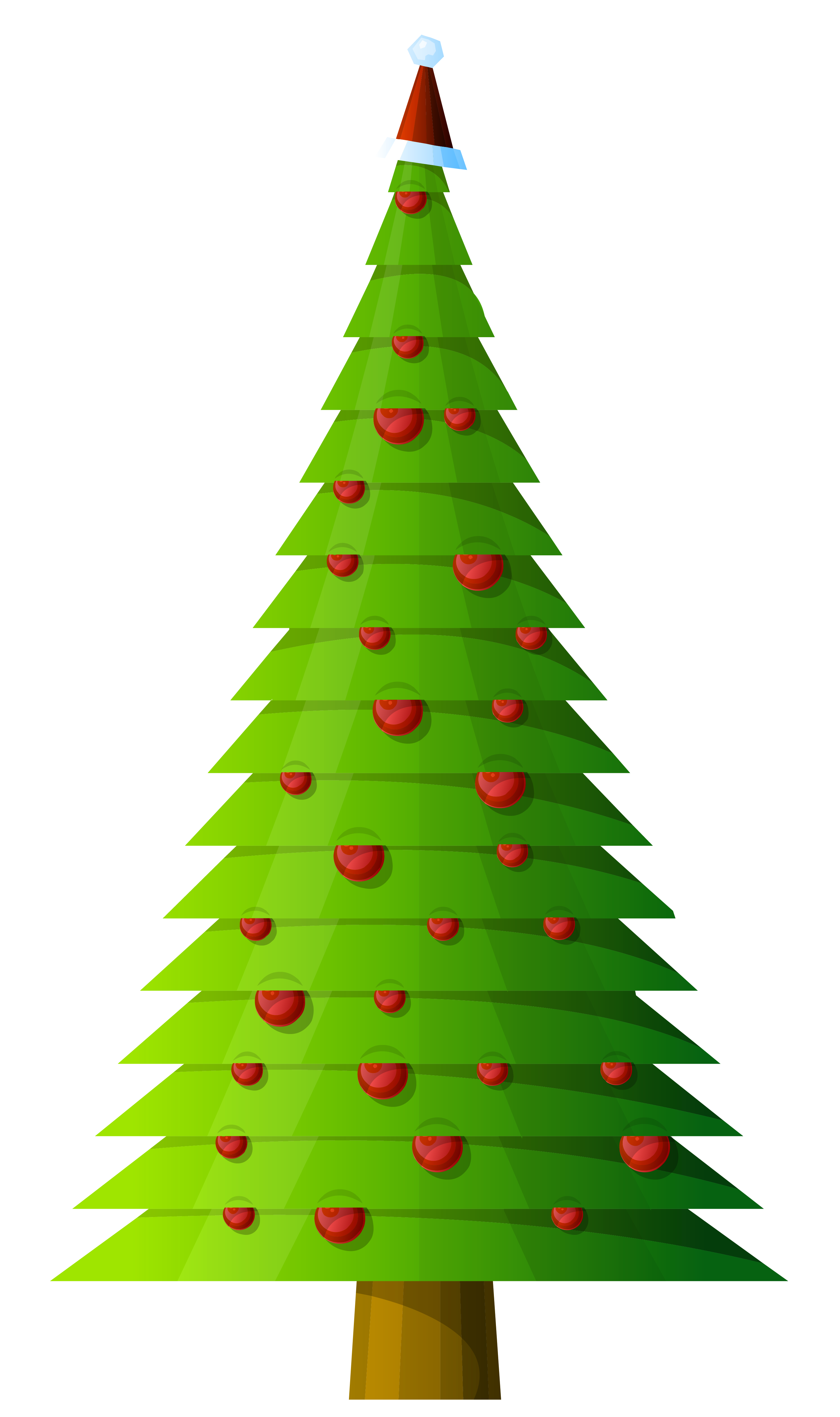 2915x4917 Christmas Tree Modern Style Transparent Clipart