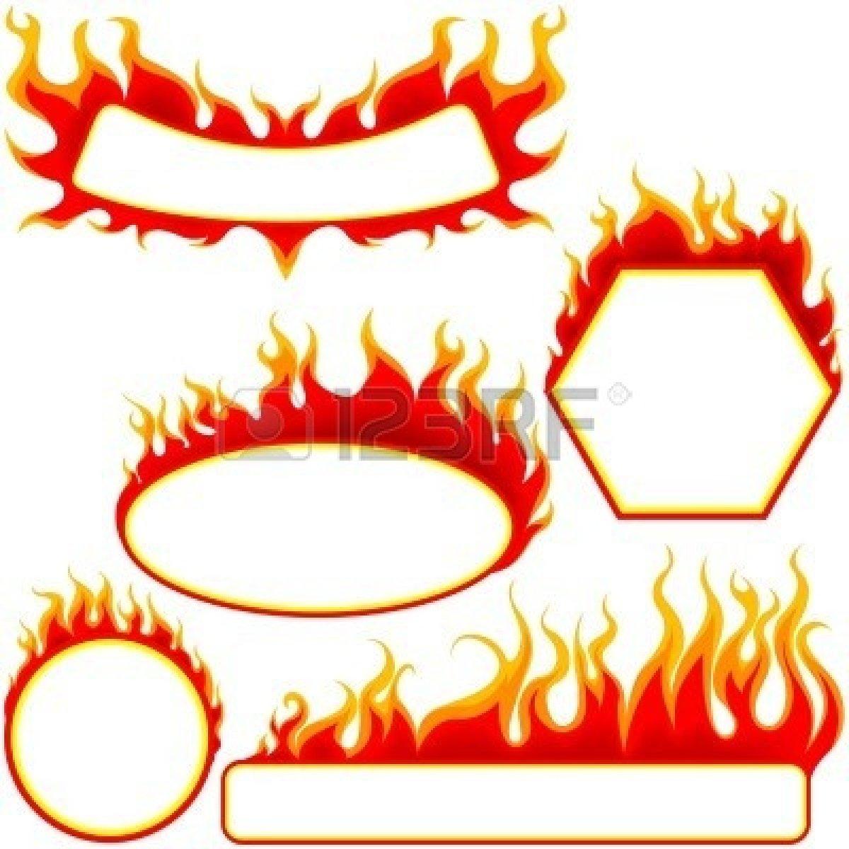 1200x1200 Fire Border Clip Art
