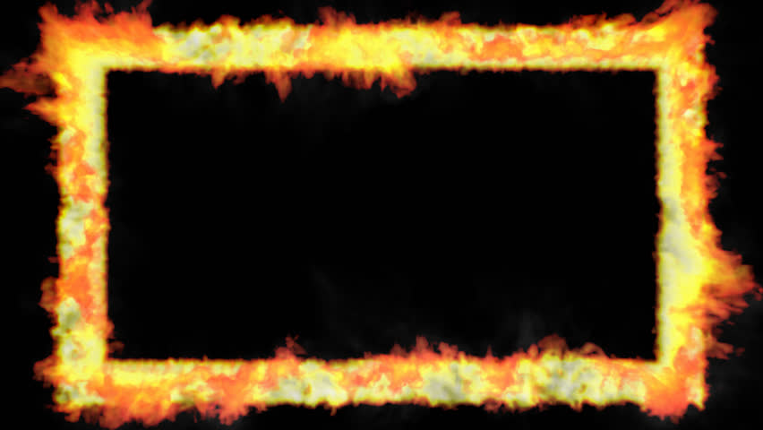 852x480 Animated Thin Rectangular Rim, Trim, Window, Border Or Frame