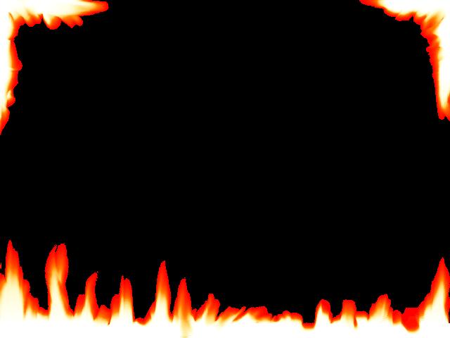 640x480 Flame Border Clipart