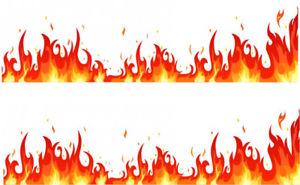 300x185 Flame Fire Effect Edible Icing Sheet Cake Border X 2 Ebay