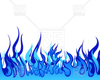 400x320 Blue Fire Border Background Royalty Free Vector Clip Art Image