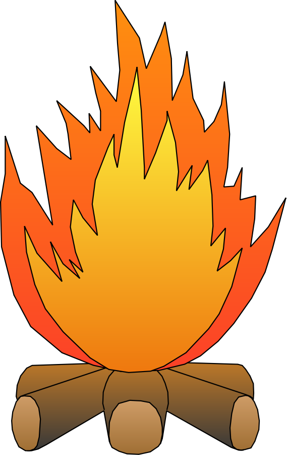 569x900 Border Fire Clipart