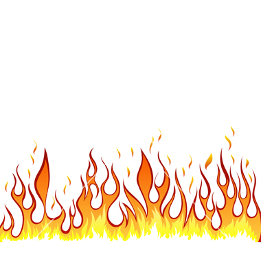 380x400 Drawn Flame Border