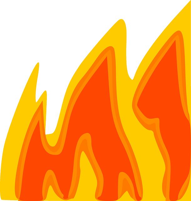 610x640 Fire, Cartoon, Hot, Flame, Border, Free, Heat, Flames