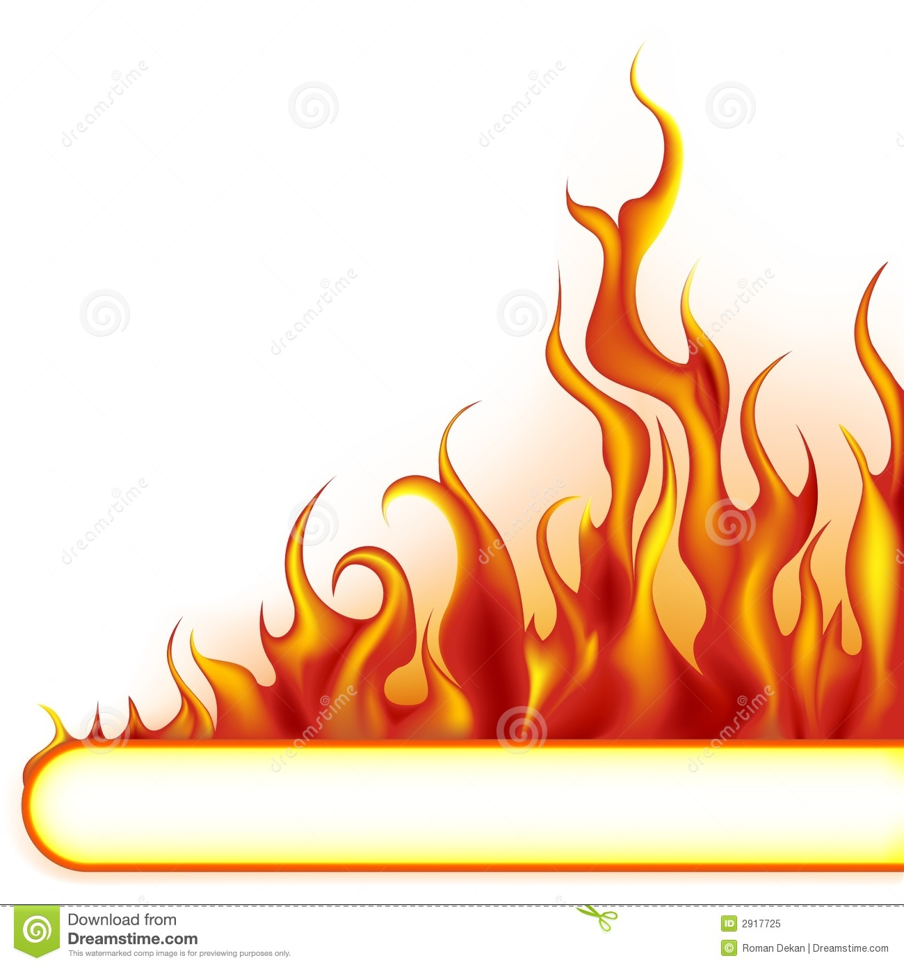 1300x1390 Flame Clipart Banner
