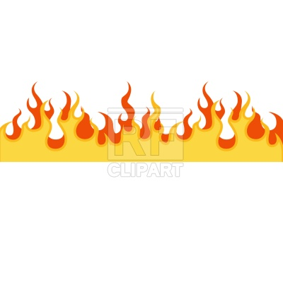 400x400 Flame Frame Royalty Free Vector Clip Art Image