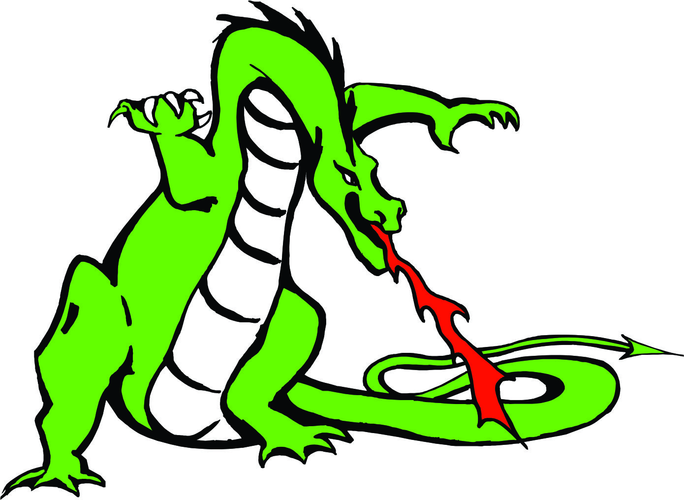 1390x1016 Ferocious Clipart Fire Breathing Dragon