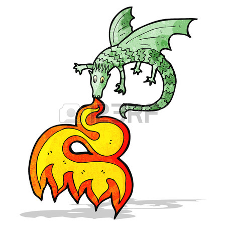450x450 Fire Breathing Cartoon Little Dragon Royalty Free Cliparts