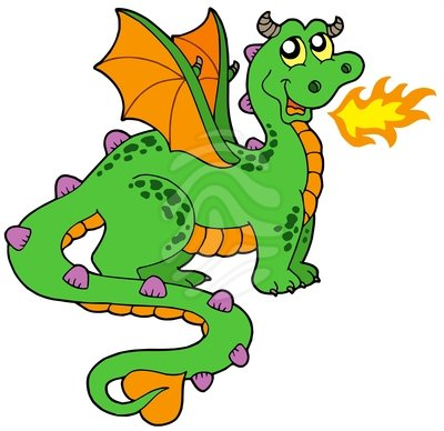400x388 Fire Breathing Dragon Clipart
