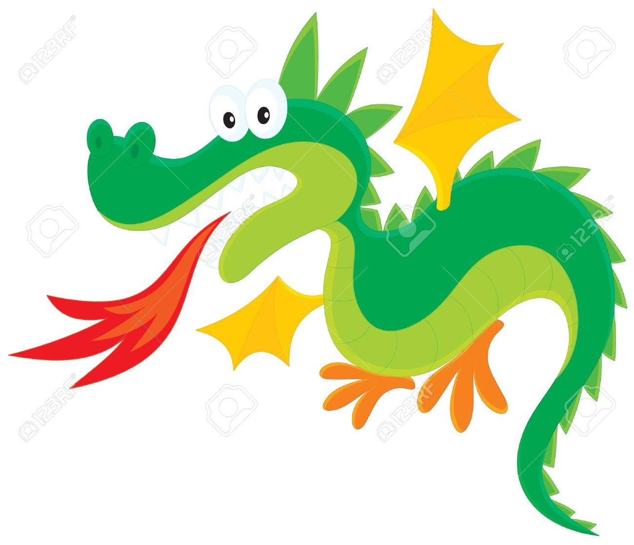1300x1117 Fire Breathing Dragon Royalty Free Cliparts, Vectors, And Stock