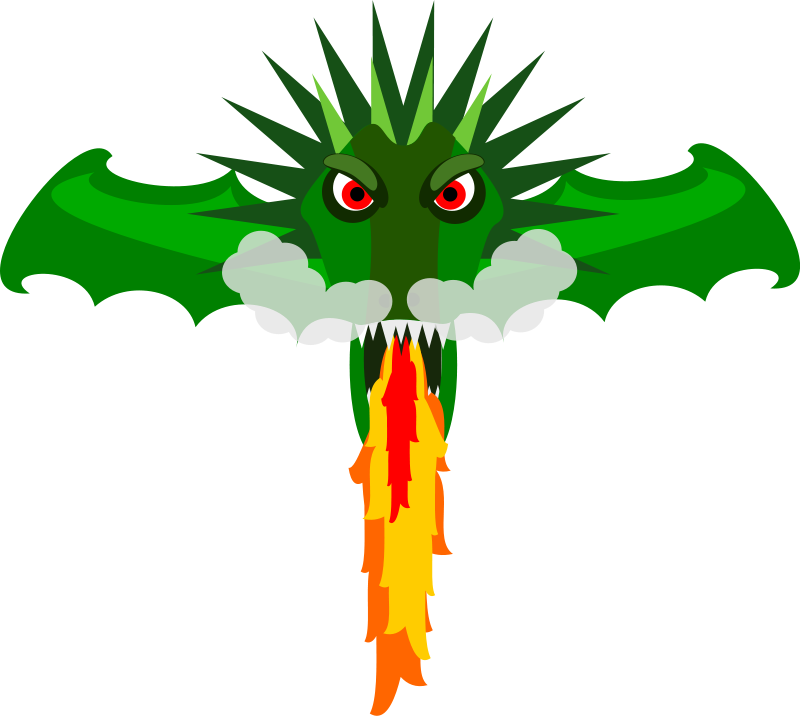 800x716 Free Fire Breathing Dragon Head Clip Art