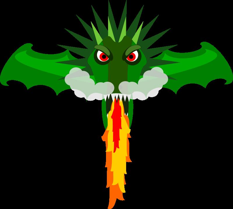 800x716 Free Fire Breathing Dragon Head Clip Art
