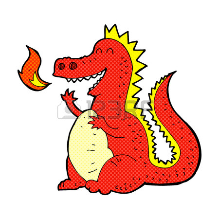 450x450 Cartoon Fire Breathing Dragon Royalty Free Cliparts, Vectors,