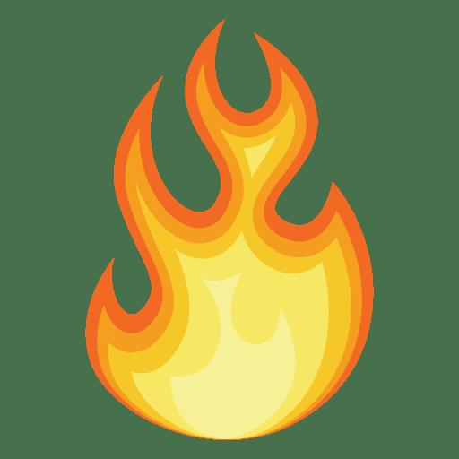 512x512 Fire Cartoon Contour Silhouette