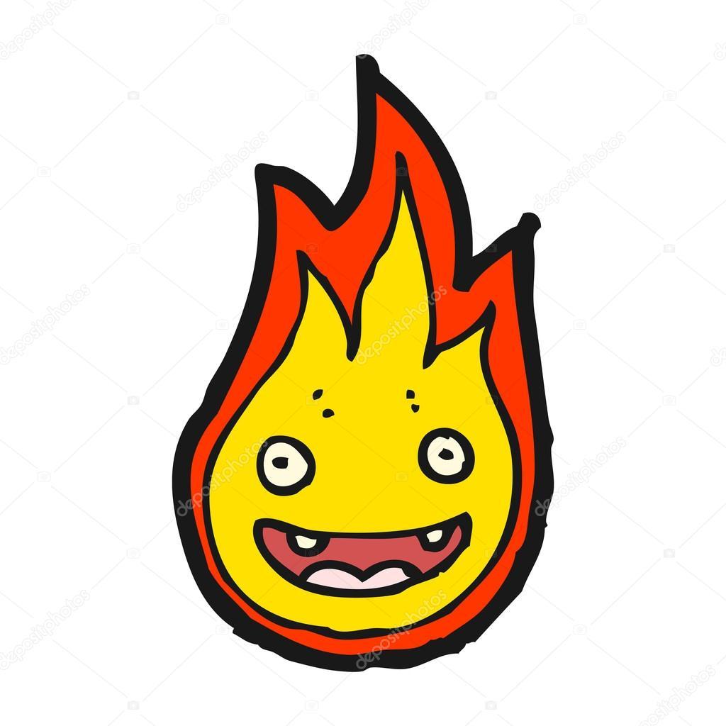 1024x1024 Happy Fire Cartoon Stock Vector Lineartestpilot