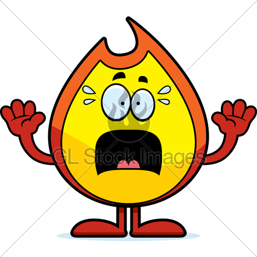 500x500 Scared Cartoon Fire Gl Stock Images