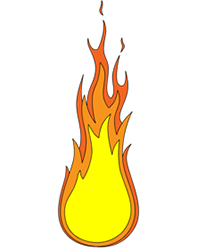 214x250 Cartoon Fire Step By Step Drawing Lesson