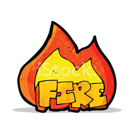 440x440 Cartoon Fire Symbol Stock Vector