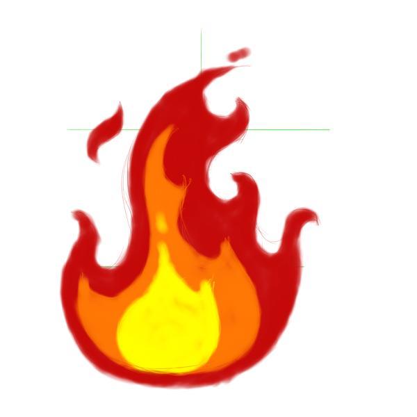 600x600 Cartoon Flames Clipart Panda