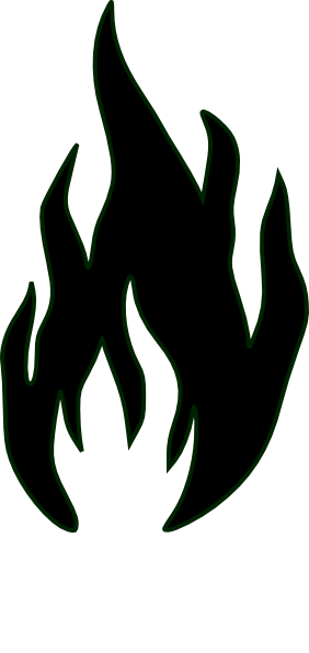 282x596 Flames In Black And White Clip Art