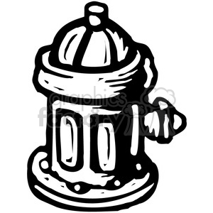 300x300 Royalty Free Black And White Fire Hydrant 385045 Vector Clip Art