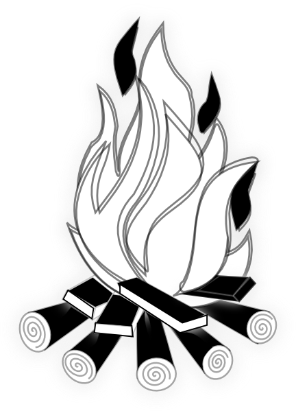 432x599 Black And White Fire Clipart Camp Fire Black And White Hi.png (432