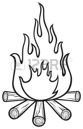 291x450 Forest Fire Clipart Black And White